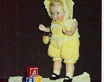 PDF File 134 Tiny doll crochet clothing Pattern Shirl-A-Lee My Little Sunshine