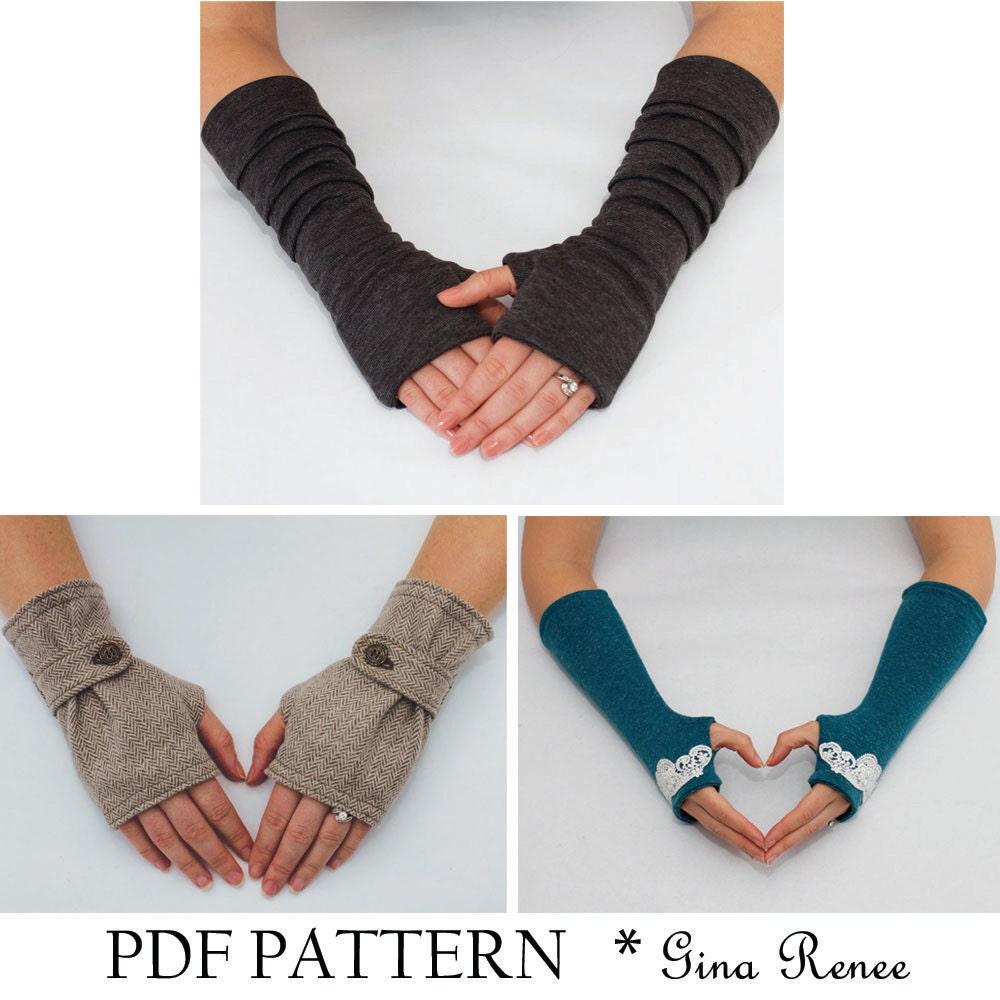 Fingerless gloves diy - 3 Fingerless Gloves Patterns Pdf Glove Sewing Patterns Combo Pack