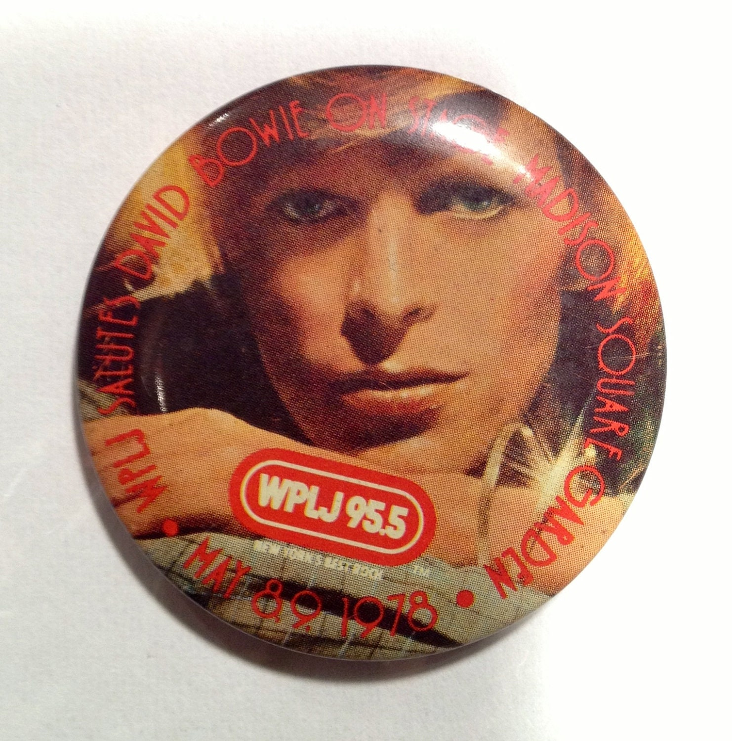 David Bowie Madison Square Garden Pin Pinback By Notwantneed
