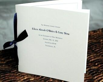 Modern Wedding Ceremony Program, custom, square, love, special event, booklet, wedding stationary