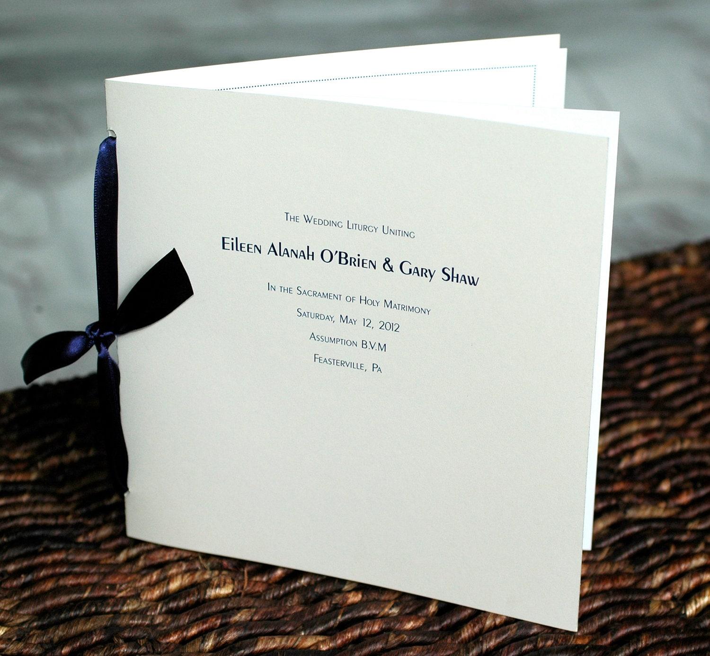 Modern Wedding Ceremony Program custom square love special