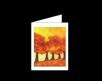 Acrylic - Greeting Card - Autumn's Trees