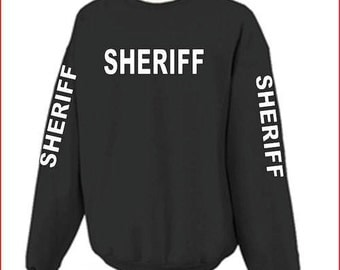 SHERIFF or POLICE 4 sided T-shirt