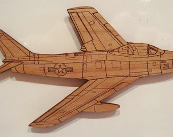 F-86 Sabre Wooden Fridge Magnet