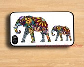Iphone 4 Case - Elephant on Wood Iphone 4 Cover,iphone 4s hard case,iphone case,christmas gift