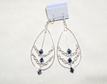Large dangle earrings  0616EA