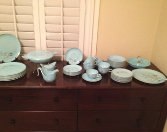Art Deco - Egg Shell Blue China Set - Service for 8 - FREE SHIPPING