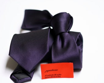 SKINNY Purple Tie in Fine Twill Coordinates Lapis Amethyst Plum