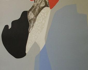 "Gilou Brillant """"Deux Petales de Roses"" Original Etching S/N Artwork"