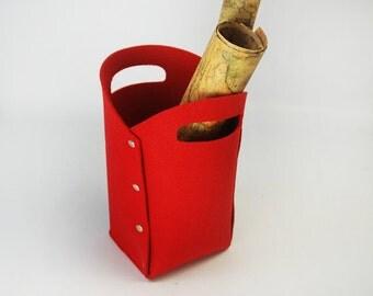 Felt Organizer Box Case Storage Box Basket Living Room Storage Container Storage Bin Tote Box with Snap Button E1346