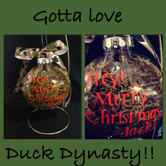 Camo personalized and duck dynasty ornament