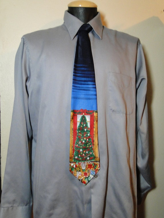 Mens Christmas Tie for Ugly Sweater Party