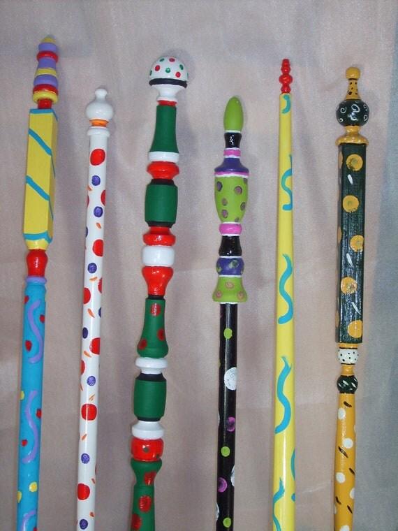 Items similar to garden poles outdoor garden art on etsy for Garden art pole