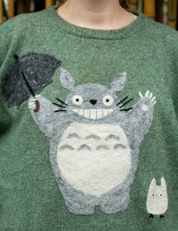 Totoro inspired Needle-Felted Sweater