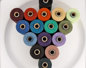 5+ lots of 5 yards choose your own colour Irish waxed linen cord 4ply - quantity discount