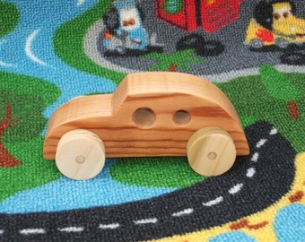 Beautiful, handcrafted, high quality wooden toy car (Beetle-bug).