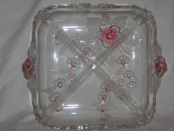 Beautiful Toska Mikasa Crystal Blossom Time Relish Dish