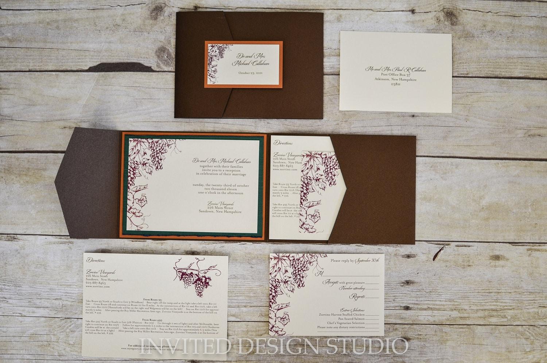 Themes For Wedding Invitations: Vineyard / Grape Theme Wedding Invitations