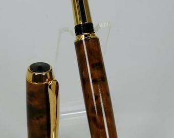 Wood Pen: Baron Style Fountain Pen, Thuya Burl