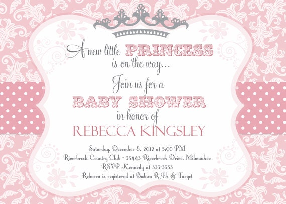 Sly image inside free printable princess baby shower invitations