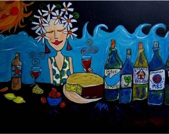 Inner Wine Lover Artwork - Inner Expressions Series by MellMee
