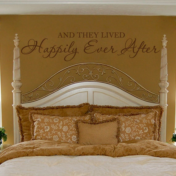 Romantic Wall Decal Bedroom Quote Vinyl Lettering Decor And They