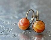"milk & honey  """" Cabochon Earrings / spice colors / autumn"