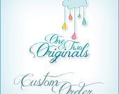 CUSTOM ORDER for Paula - Clouds and Rain Drops Mobile - No Hanger