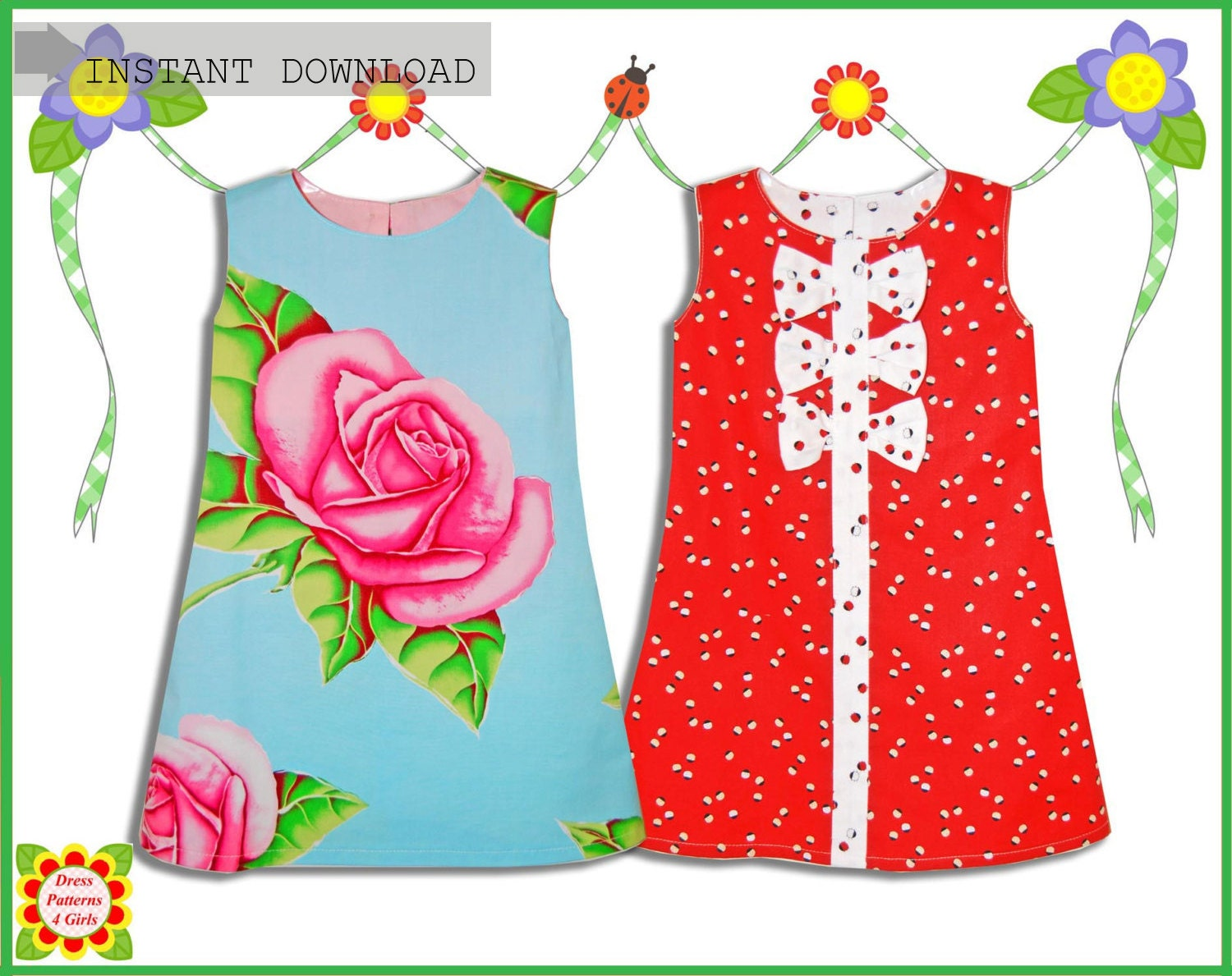 Adele girls dress patterns free mother daughter apron pattern this is a digital file jeuxipadfo Gallery