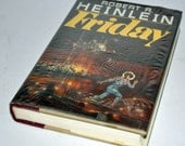 1982 FRIDAY Robert A. Heinlain Science Fiction Hardcover Book