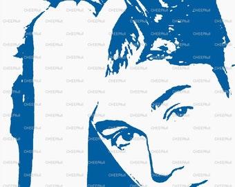 Justin Bieber Matted Print
