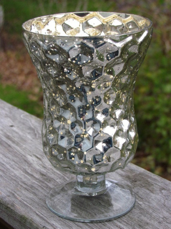 6 Silver Mercury Glass Style Vases Assorted By Flamesandframes