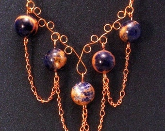 Copper & Earthstone Necklace