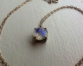 Two Instalmemts for S ONLY Extremely Fiery 9mm Round Moonstone Pendant on Bright Sterling Custom Made for You