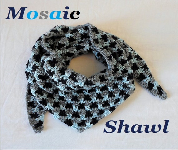 Mosaic Shawl Crochet Pattern