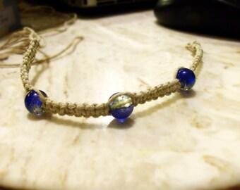Hemp Bracelet with 3 beads