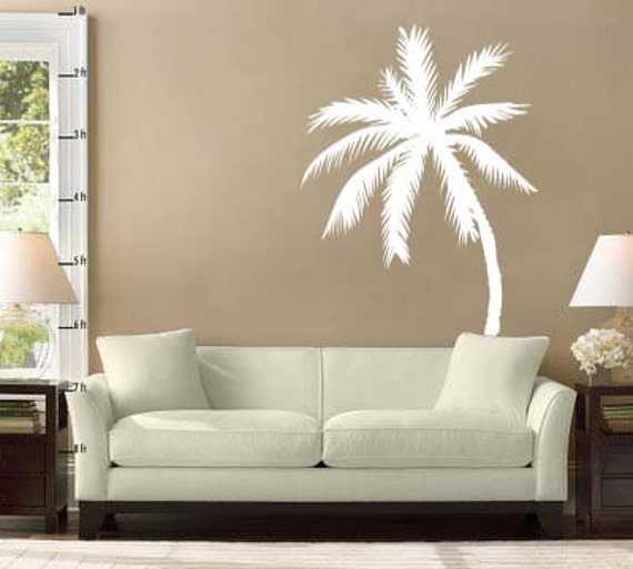 palm tree vinyl wall decal sticker 72h x 47w. Black Bedroom Furniture Sets. Home Design Ideas