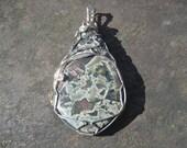 Leopard Jasper Pendant Wrapped in Sterling Silver