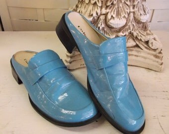 Unlisted Slip-on Shoes  - Vintage Turquoise Shoes Size 7