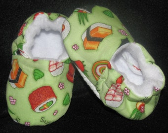 Baby Shoes Toddler Slippers Sushi Shower Gift