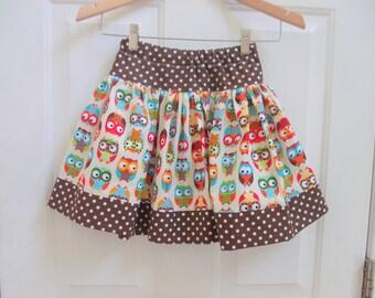 owl skirt girls skirt twilry skirt fall skirt owl clothng owl outfit owl set birthday summer spring fall winter