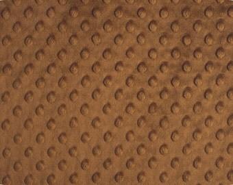 Any Yardage - Caramel Minky Fabric - Shannon Fabrics Dimple Dot Minky