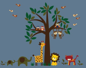 Tree WALL DECAL Jungle Wall Decal - D100