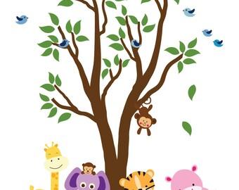 Tree WALL DECAL Jungle Wall Decal - E200