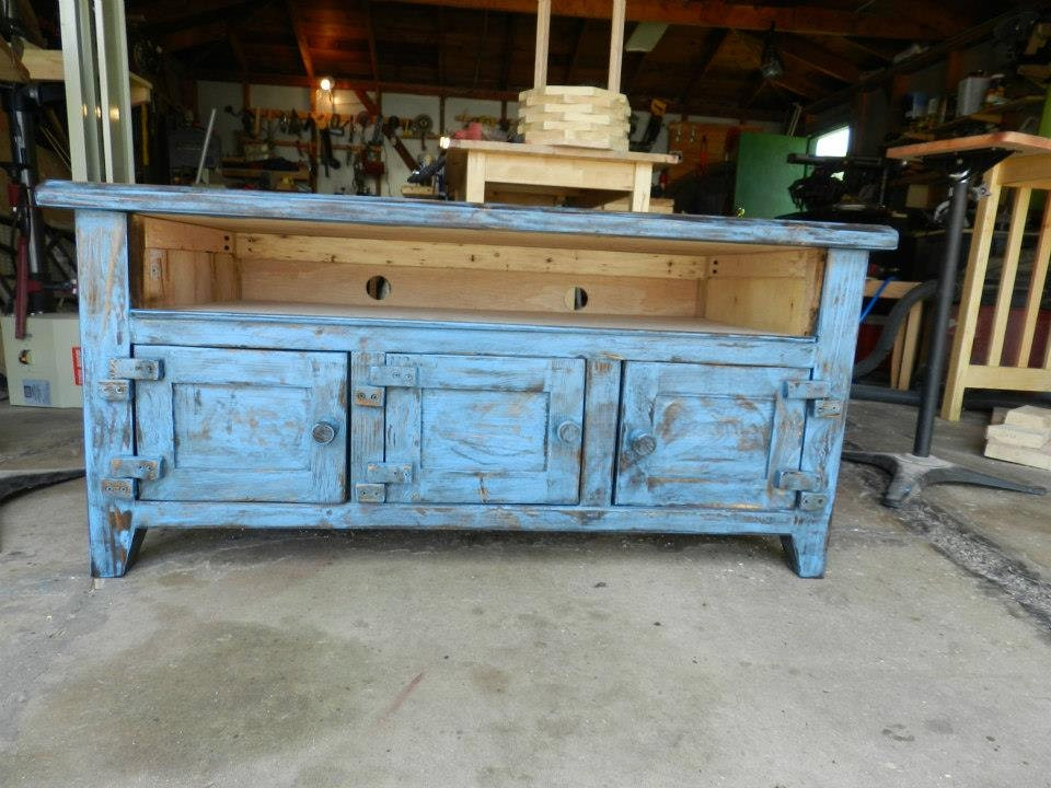 Distressed Rustic Tv Stand By ConcoreWoodwork On Etsy