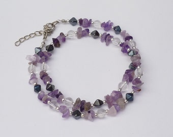 Necklace with Amethyst splitter