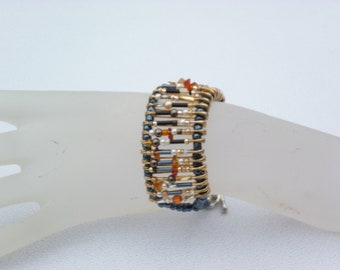Bracelet with safety pins