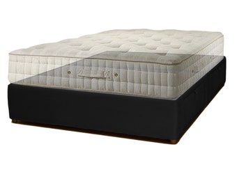 Upholstered Captain's Bed With Drawers - Handcrafted Storage Platform Bed - Choose Fabric Colors