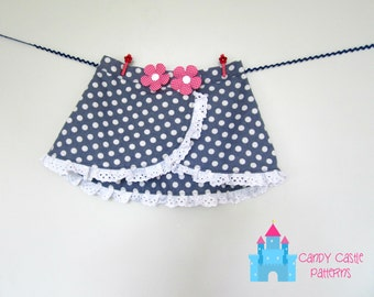 Jelly Bean Skirt PDF Pattern sizes 6-12m - 12-14y  - ruffle lace skirt