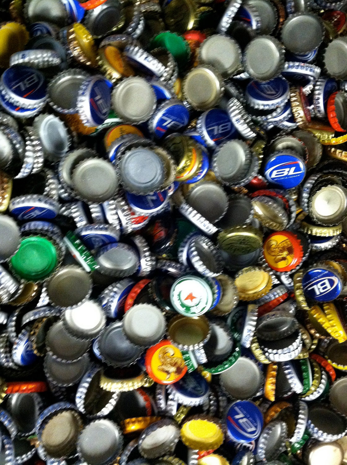 beer caps 1 pound of misc used beer bottle caps